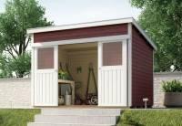 Weka Gartenhaus 225 Größe 2 schwedenrot