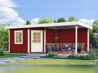 Weka Gartenhaus 213 Plus Gr 1 schwedenrot Anbau 300 cm