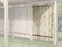 Weka Seitenwand 20 mm KDI für Carport