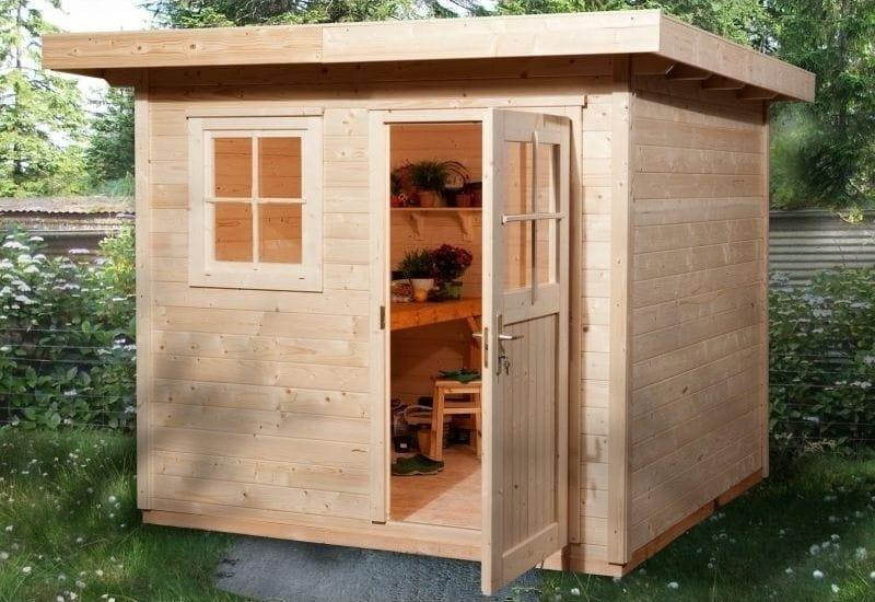 weka gartenhaus 170 gr e 2 mit einzelt r und einzelfenster und einfach zu errichtendem. Black Bedroom Furniture Sets. Home Design Ideas
