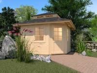 Weka Gartenhaus 149 5-Eck Gr. 2 mit Dach