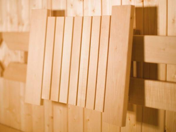 Weka Sauna verschiebbare Rückenlehne