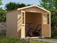 Weka Gartenhaus 218 Größe 4 mit Doppeltür 28 mm wekaLine natur