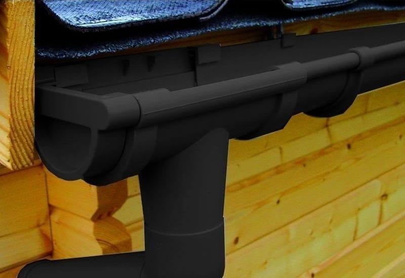 dachrinne 4 x 300 cm f r gartenh user mit walmdach. Black Bedroom Furniture Sets. Home Design Ideas