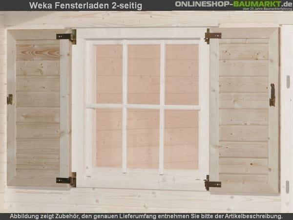 Weka Fensterladen 2-seitig für Weekendhaus 138