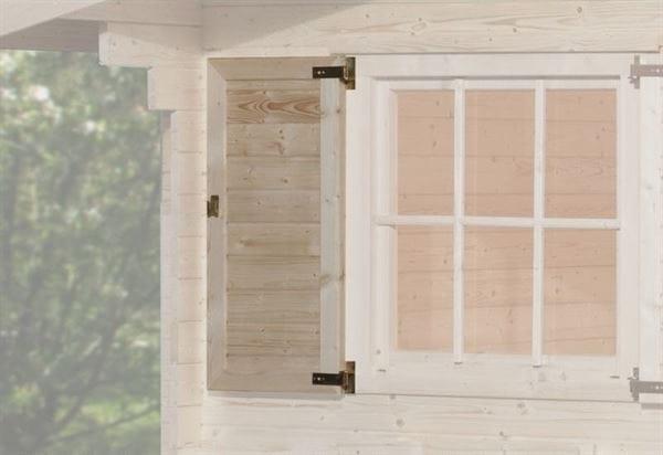 Weka Fensterladen 1-seitig für Fenster 91 x 91 cm