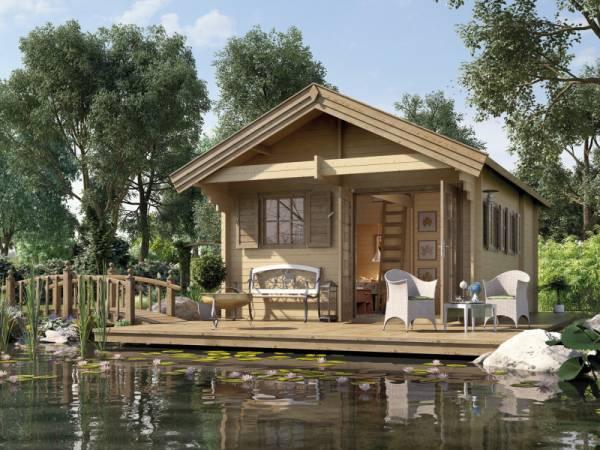 Weka Gartenhaus 155 45 mm Weekend Deluxe inkl. Schlafboden