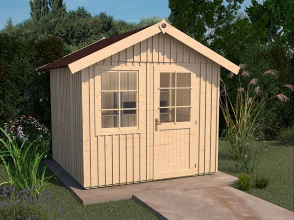 Weka Gartenhaus Schwedenhaus 410 Gr. 1 natur