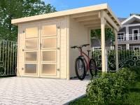 Weka Gartenhaus 321 Größe 1 mit Anbaudach 115 cm