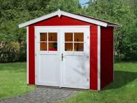 Weka Gartenhaus 224 Größe 2 mit Doppeltür schwedenrot