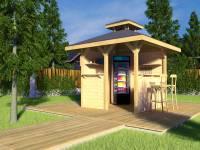 Weka Überdachung Gartenoase 651 Gr. 1 Massivholz