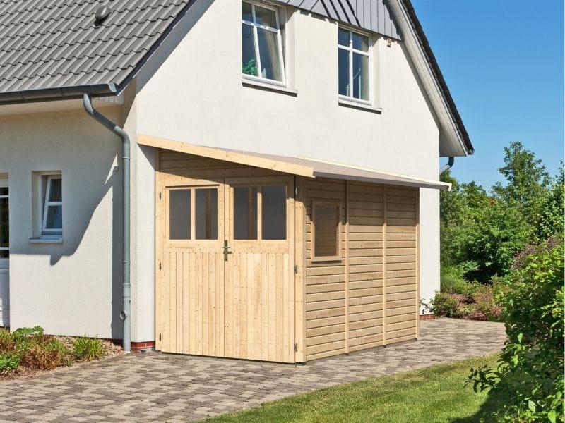 karibu gartenhaus juist 3 natur 19 mm kleines kompaktes. Black Bedroom Furniture Sets. Home Design Ideas