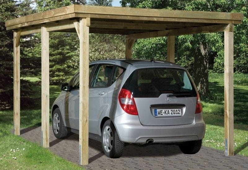 weka carport 617 gr e 1 kdi carport mit stabiler und einfach zu errichtender konstruktion. Black Bedroom Furniture Sets. Home Design Ideas