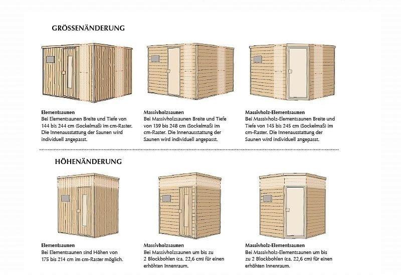 sonderanfertigung weka sauna als elementsauna oder. Black Bedroom Furniture Sets. Home Design Ideas