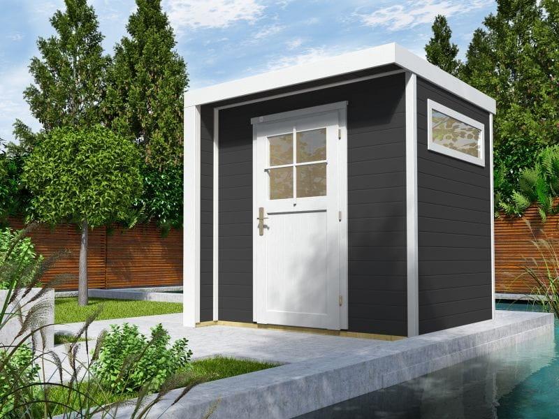 Weka Design-Gartenhaus 262 in anthrazit