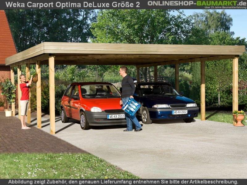 Weka carport 609 größe 2 kdi carport mit stabiler und einfach zu