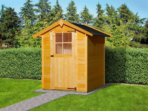 Weka Gartenhaus 317 Größe 2 mit Einzeltür Eiche hell