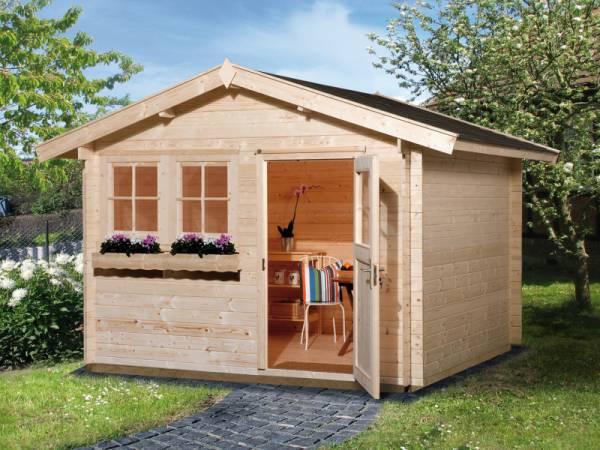 Weka Gartenhaus 139 Gr. 1 Vordach 20 cm