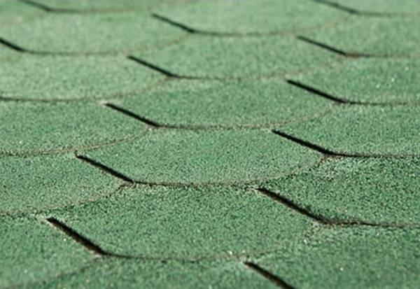 Sonderpreis Bitumen-Dachschindeln Biberschwanz vintage grün