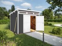 Weka Gartenhaus 264 Gr. 1 ,21 mm, grau
