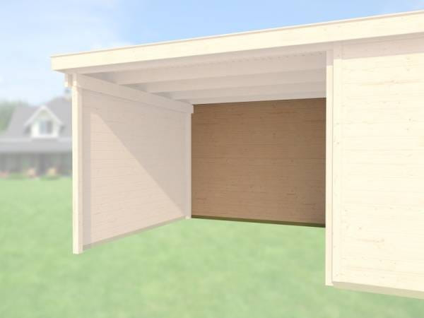 Weka Rückwand für Gartenhaus 126/172 und 225 Anbau 300 cm