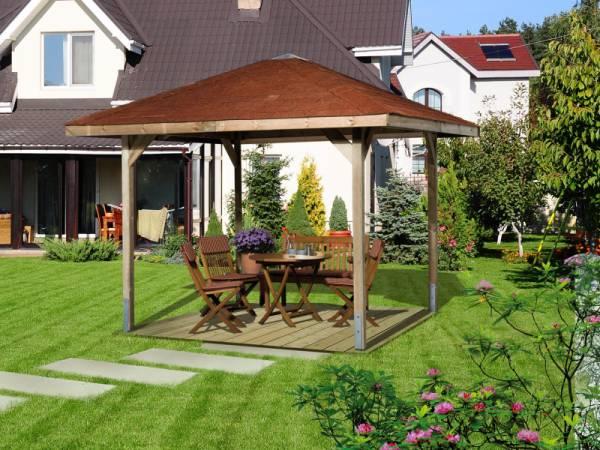 Weka Pavillon Gartenoase 651 Größe 3 Sparset