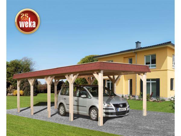 Weka Leimholz-Flachdach-Einzelcarport 615 Gr. 2