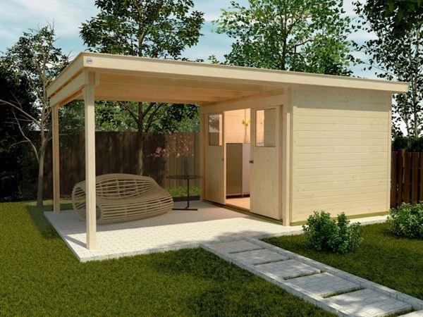 Weka Gartenhaus 225 Gr. 1 und Anbaudach 300 cm