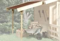 Weka Schleppdach 19 mm 80 x 200 cm lasiert