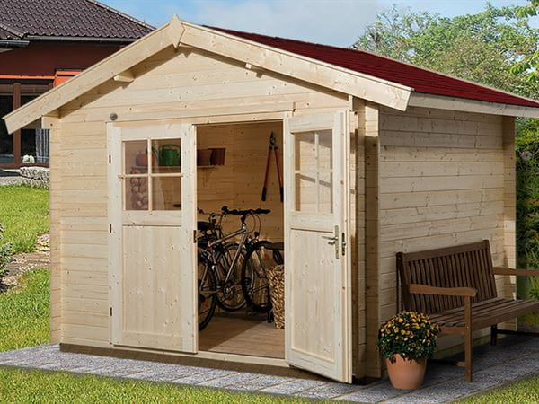 Weka Gartenhaus 112 Gr 1 Vordach 20 cm