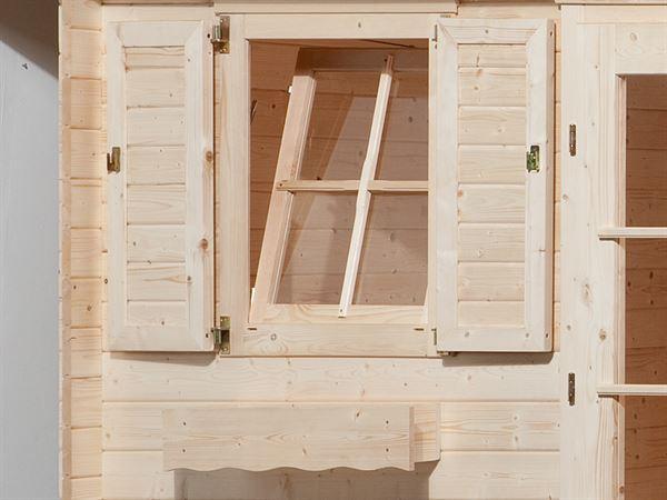 Weka Fensterladen 2-seitig für Fenster 69 x 79 cm mit Blumenkasten