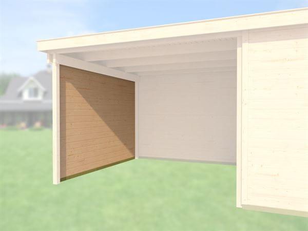 Weka Seitenwand für Gartenhaus 126/172 und 225 Anbau 300 cm