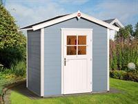 Weka Gartenhaus 223 Größe 1 mit Einzeltür grau