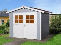 Weka Gartenhaus 224 Größe 3 mit Doppeltür grau