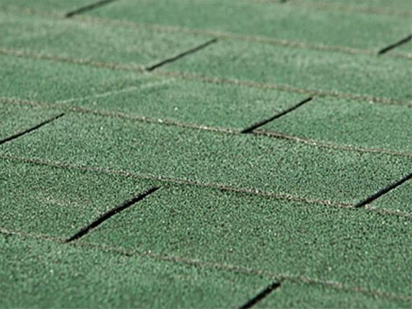 Bitumen-Dachschindeln Rechteck vintage grün