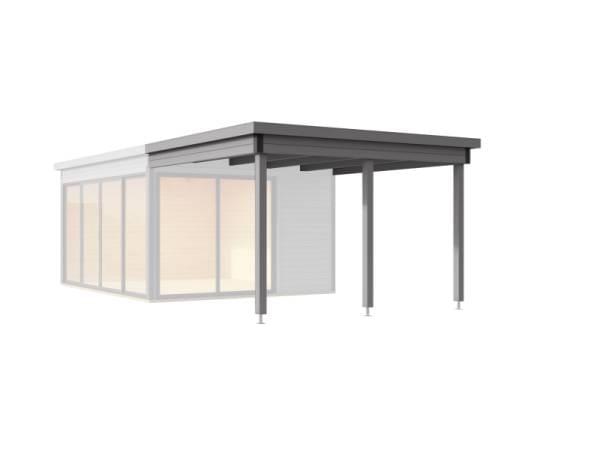 Weka Anbaudach Designhaus 412 Gr. 2 grau