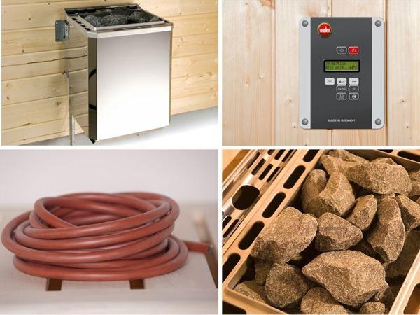 Weka Ofenset 2 - 4,5 kW Ofen, ext. Steuerung, Kabel, Steinen