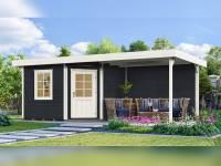 Weka Gartenhaus 213 Plus Gr 2 anthrazit Anbau 300 cm