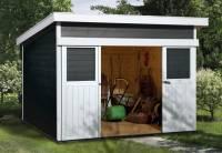 Weka Gartenhaus 225 Größe 1 anthrazit
