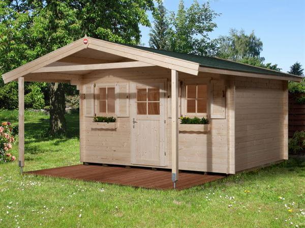 Weka Gartenhaus 135 Gr. 1 Vordach 200 cm
