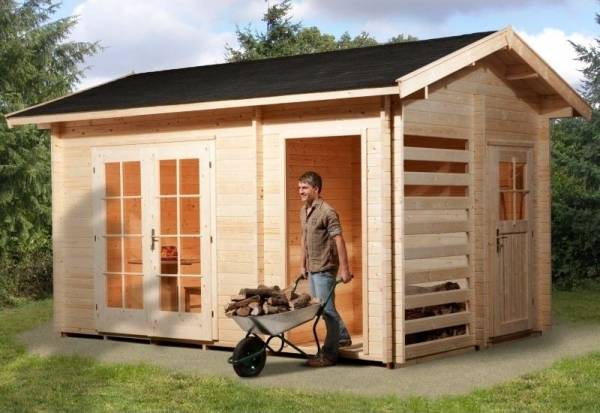 Weka Gartenhaus 150 Multifunktion mit Holzlager und Geräteraum