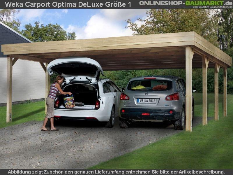 weka carport 609 gr e 1 kdi carport mit stabiler und. Black Bedroom Furniture Sets. Home Design Ideas