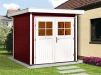 Weka Gartenhaus 227 Größe 1 schwedenrot