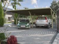 Weka Y-Doppelcarport ohne Dachplatten