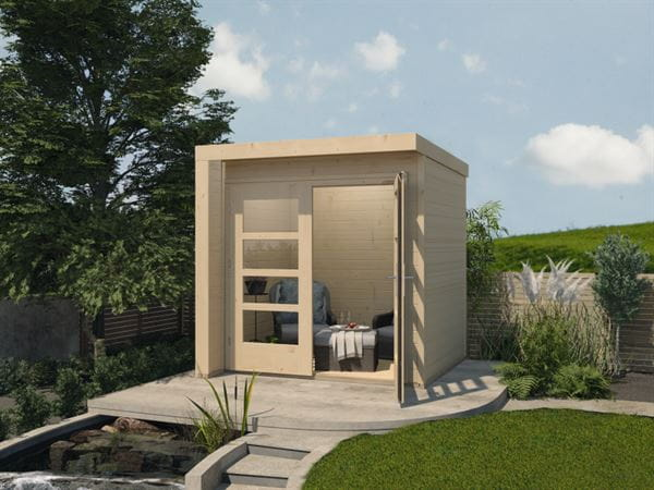 Weka Design-Gartenhaus 262 A naturbelassen