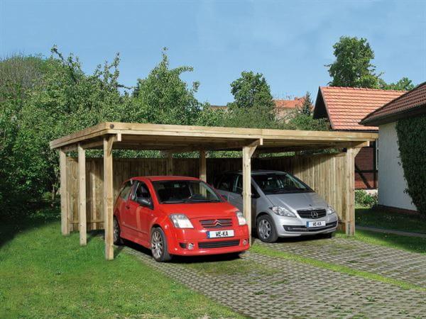 Weka Carport 618 Größe 1 ohne Dachplatten