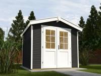 Weka Gartenhaus 218 Größe 4 anthrazit 28 mm