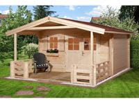 Weka Gartenhaus 111 Gr. 2 Vordach + Terrasse 200 cm