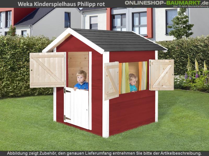 Weka Kinderspielhaus 818 rot / weiss
