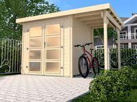 Weka Gartenhaus 321 Größe 5 mit Anbaudach 115 cm